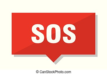 sos red tag - sos red square price tag