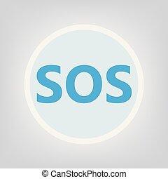 SOS sign- vector illustration