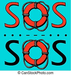 SOS. The international distress signal in telegraphy using ...