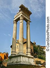 sosiano, itálie, di, troska, -, teatro, řím, 2, apollo, marcello, chrám