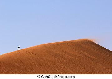 sossusvlei, dünenlandschaft, nanib, sand, namibia,...