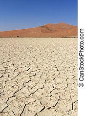 Sossusvlei sand dunes landscape in the Nanib desert near Sesriem, Namibia