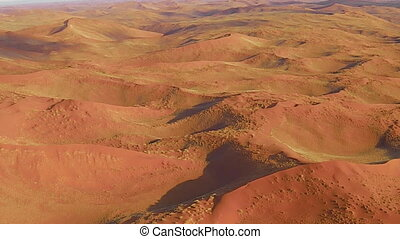 sossusvlei, wüste, panoramisch, flug