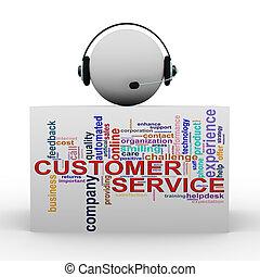 sostegno cliente, aiuto, 3d