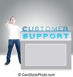 sostegno cliente, contatore