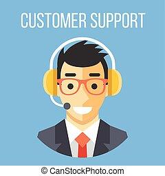 sostegno cliente, direttore, felice