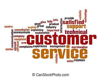 sostegno cliente, parola, nuvola