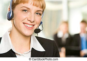 sostegno cliente, rappresentante