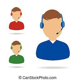 sostegno cliente, servizio, illustrazione