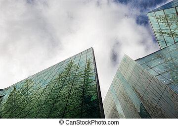 sostenibile, verde, energia, città, urbano, ecologia, concetto