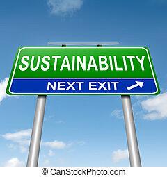 sostenibilidad, concept.