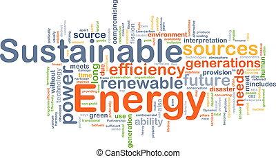 sostenible, energía, concepto, plano de fondo