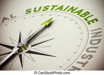 sostenible, sostenibilidad, concepto, -, empresa / negocio