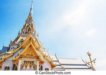 sothorn, witte , thailand, tempel, wat, tempel