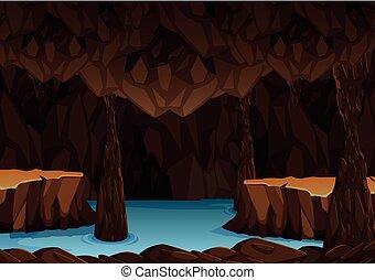 sotterraneo, acqua, caverna