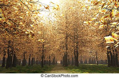 sottobosco, di, 50, euro, effetti, instead, di, il, foglie