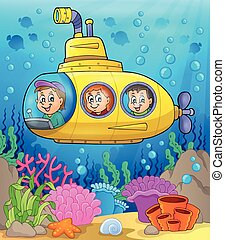 sottomarino, tema, 2, immagine