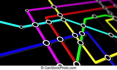 sottopassaggio, rete, persone, collegamenti