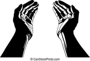 soucier, hands.