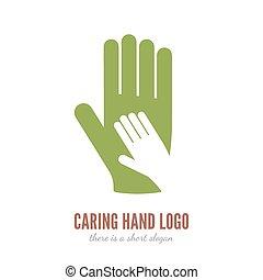 soucier, logo, main