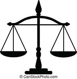 soudce, váhy
