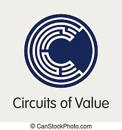 soudní okres, o, cenit si, -, skutečný, měna, mince, image.