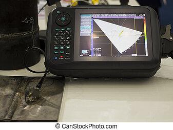 soudure, processus, inspection, essai, ultrasonique, défaut...