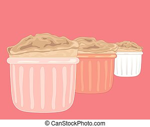 soufflé, bakt