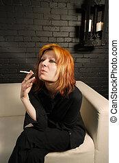 souffler, fumée