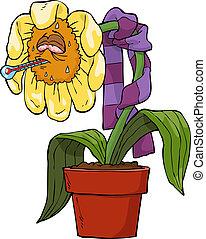 souffrant, fleur
