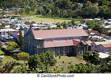 soufriere, st lucia - The town of Sourfriere, St Lucia