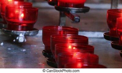 souhait, bougies, prier, église