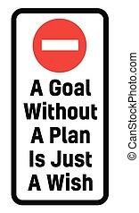 souhait, sans, but, juste, plan