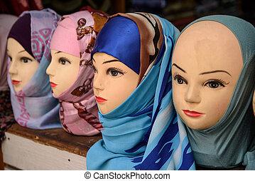 (souk), marroquí, tradicional, marruecos, fez, mercado