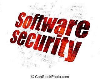soukromí, grafické pozadí, digitální, bezpečí, concept:, software