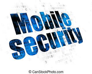 soukromí, proměnlivý, grafické pozadí, digitální, bezpečí, concept: