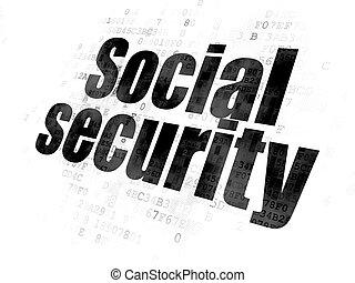 soukromí, prst background, social security, concept:
