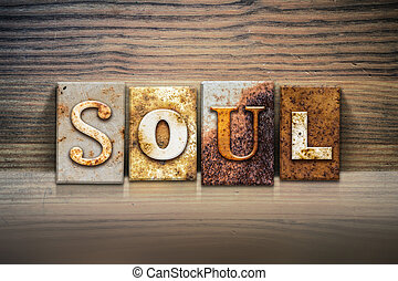 "Soul Concept Letterpress Theme - The word """" written in..."