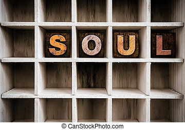 Soul Concept Wooden Letterpress Type in Drawer
