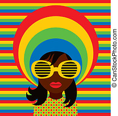 Soul Girl - Retro soul girl wearing sunglasses.