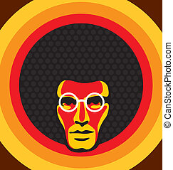Graphic design of a soul man.