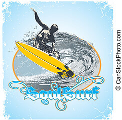 soul surf - illustration for shirt printed and poster