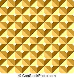 soulagement, pattern., seamless, doré