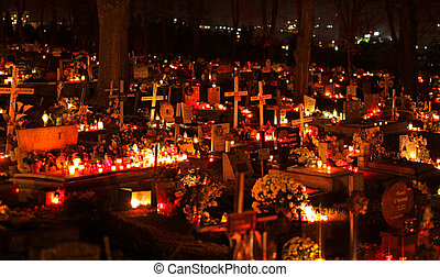 Souls day - RUZOMBEROK, SLOVAKIA - NOVEMBER 1: Souls day at...