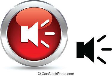 Sound button. - Sound realistic button. Vector illustration....