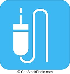 Sound Cable - Sound cable, audio plug, cord icon vector...