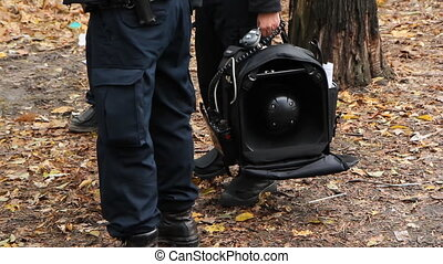 Sound cannon. - Toronto police with LRAD u2013 long range...