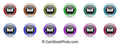 sound colorful round web icon set