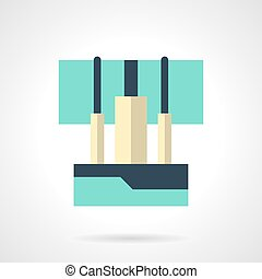 Sound console flat color vector icon