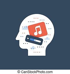 Sound design, music recording studio, song writing, podcast concept, listen radio